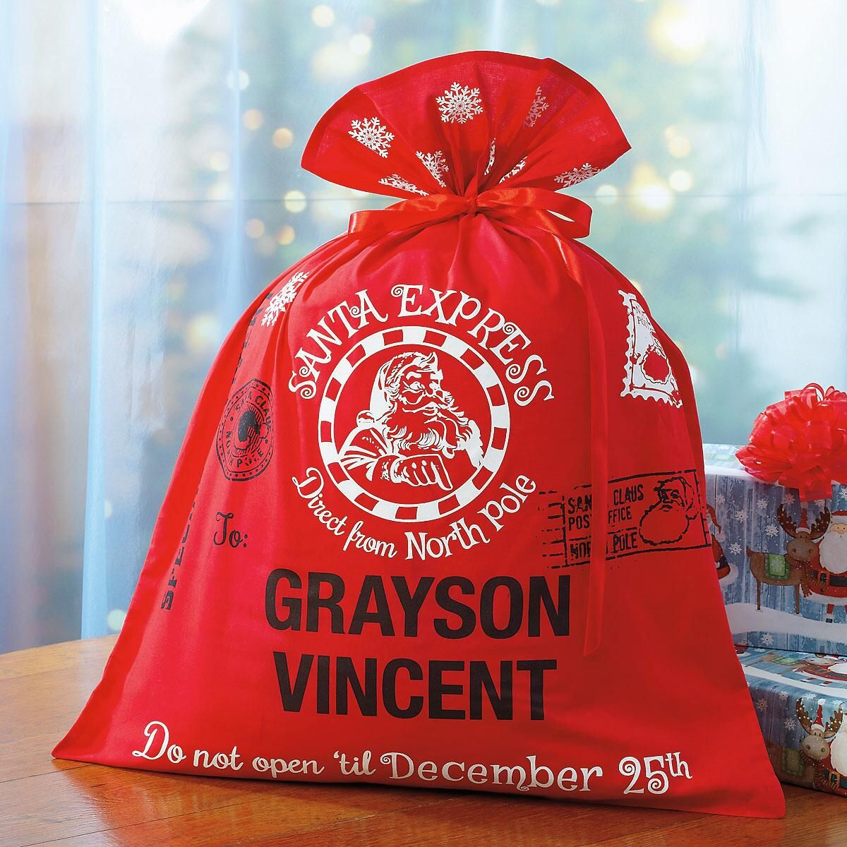 Santa Express Personalized Bag