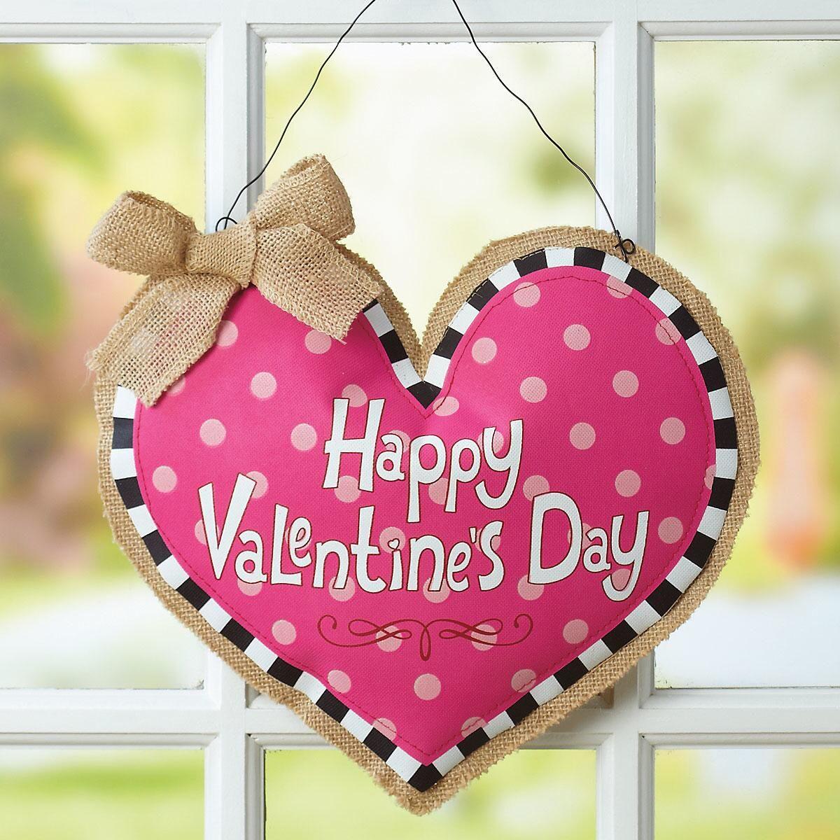 Burlap Heart Door Decoration