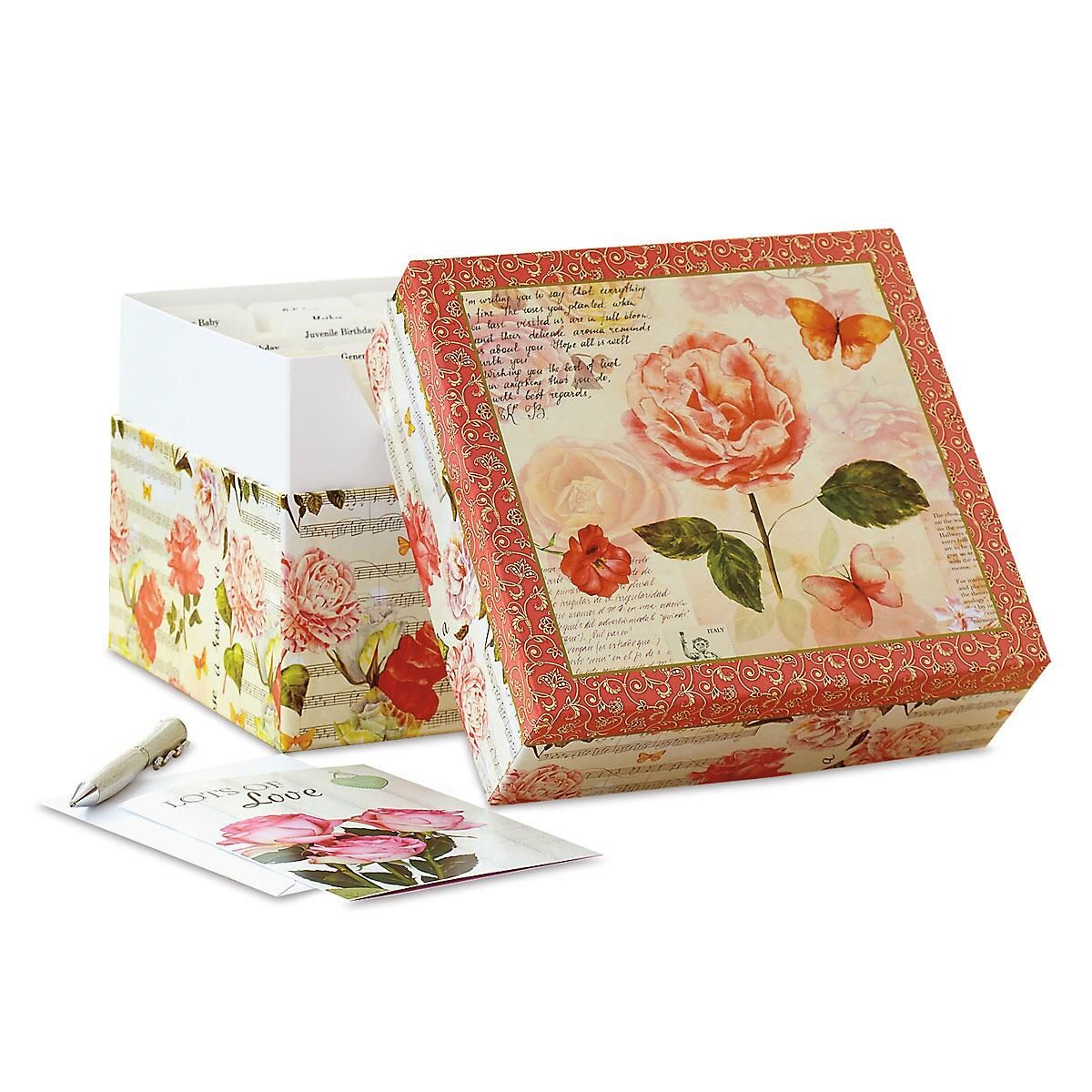 Roses Greeting Card Box