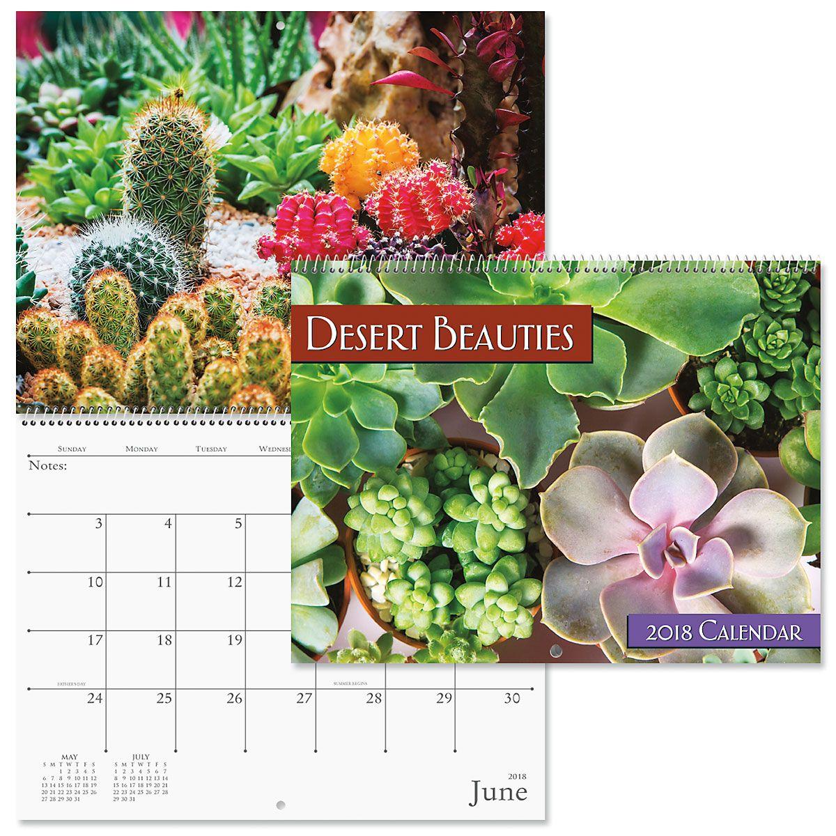 2018 Beautiful Succulents Wall Calendar