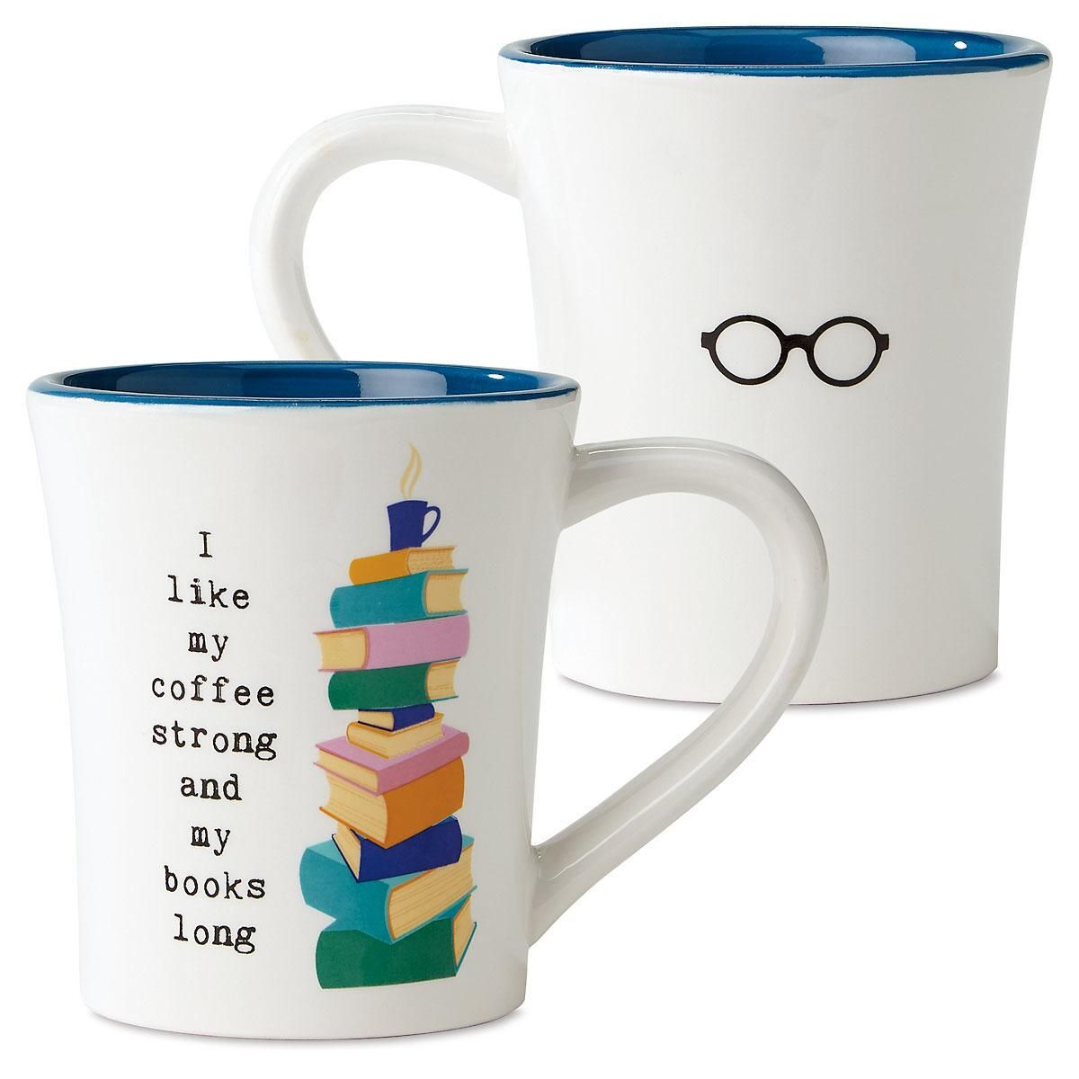 Books Long Book Club Mug
