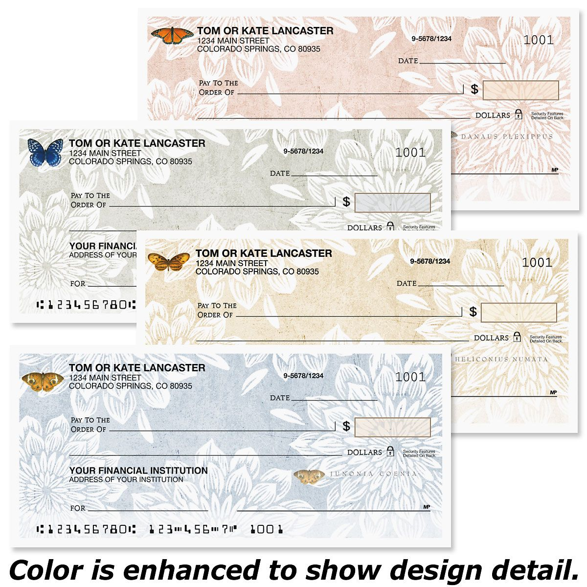 Natural Butterfly Personal Checks