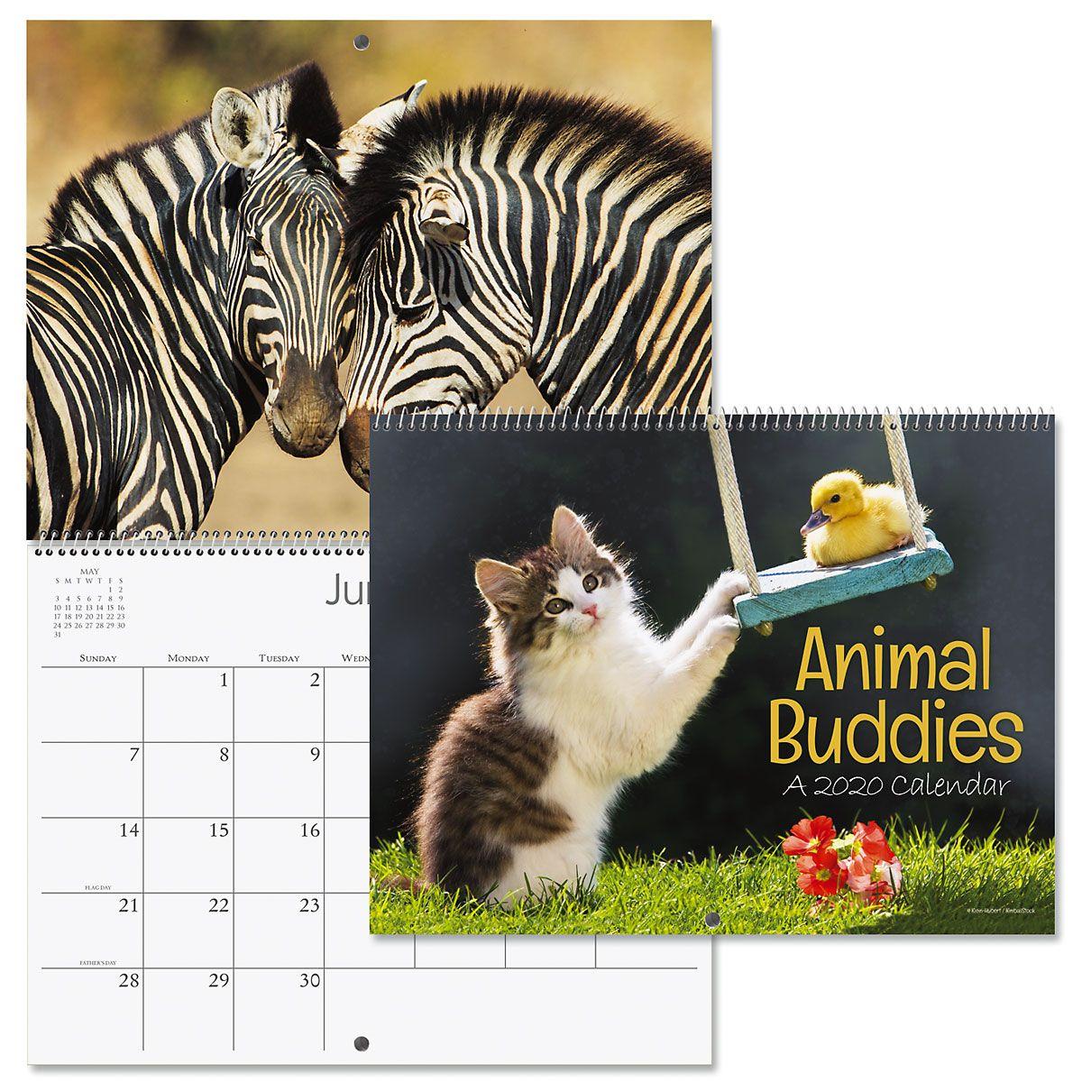 2020 Animal Buddies Wall Calendar