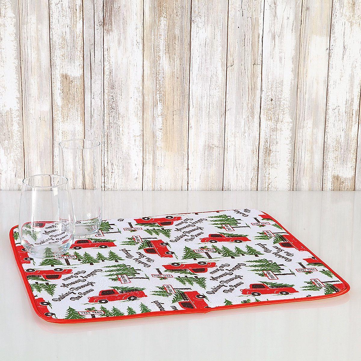 Christmas Microfiber Drying Mats