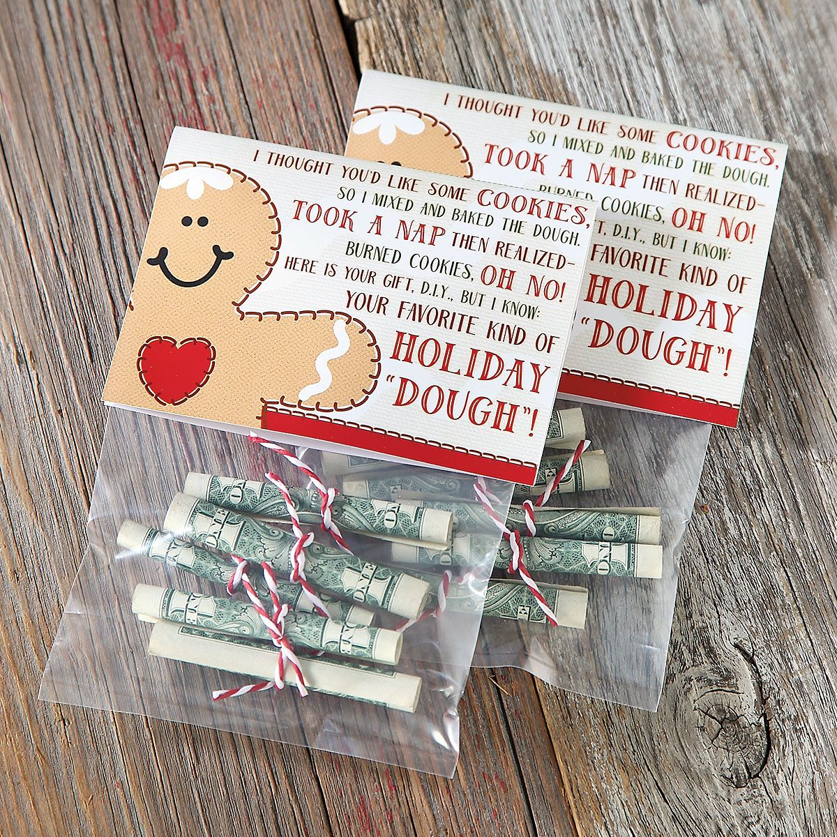 "Holiday ""Dough"" Treat Bags & Toppers - Buy 1, Get 1 Free"