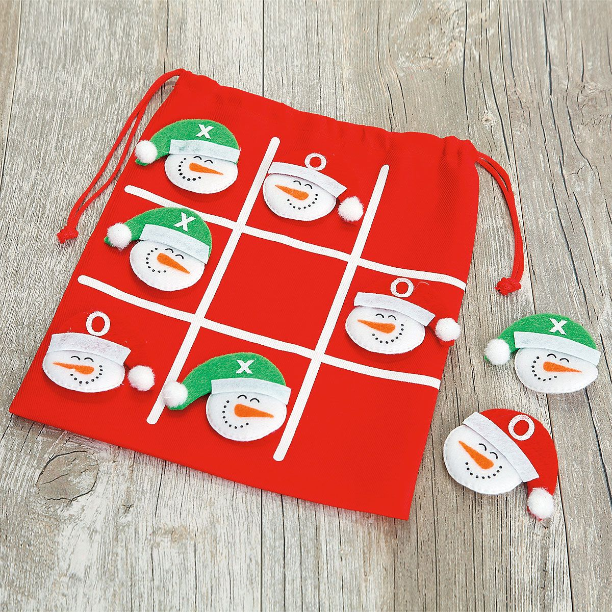 Fabric Tic Tac Toe Game In a Bag - Buy 1, Get 1 Free