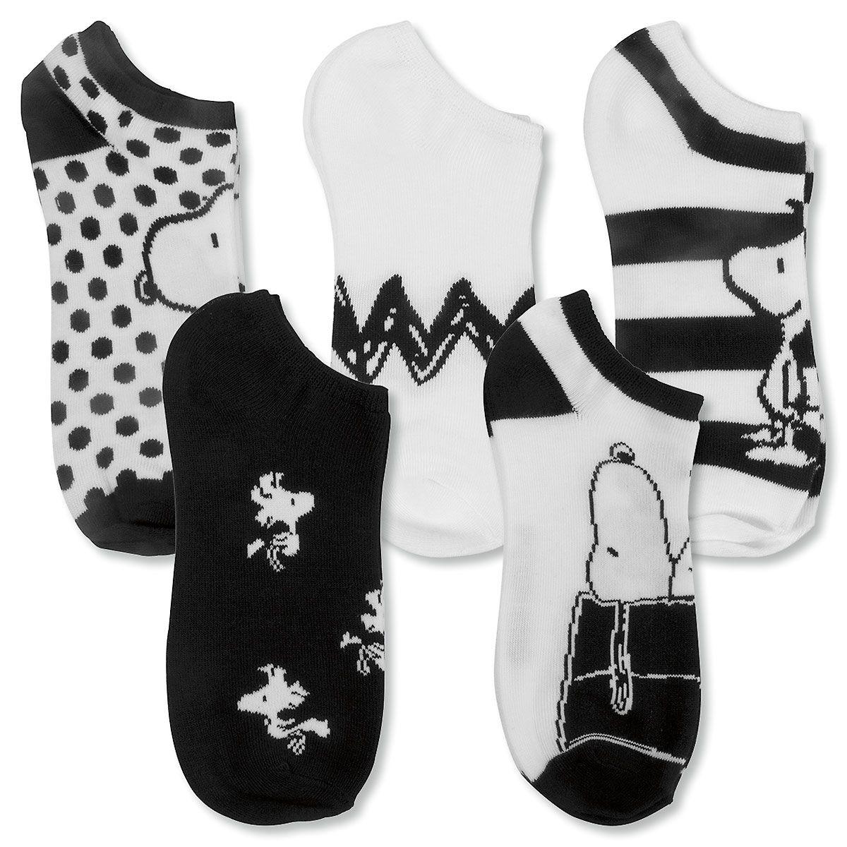 PEANUTS® Socks in Black & White