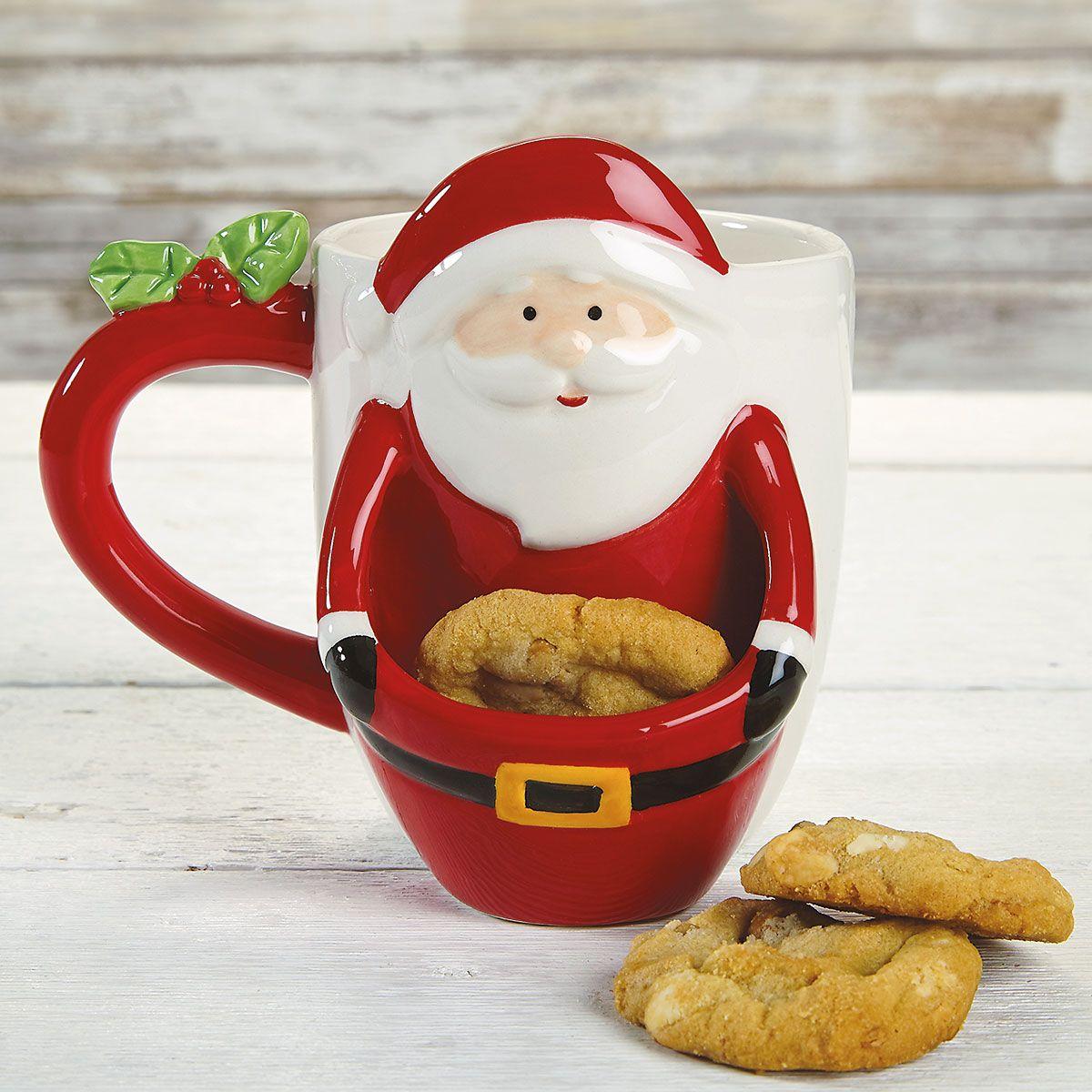Santa Cookie Mug Colorful Images