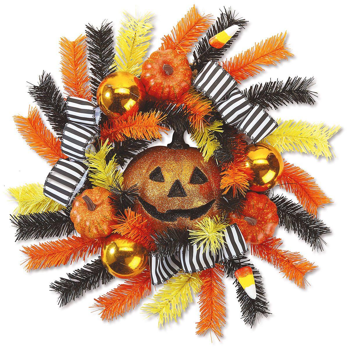 Jack-o'-Lantern Wreath