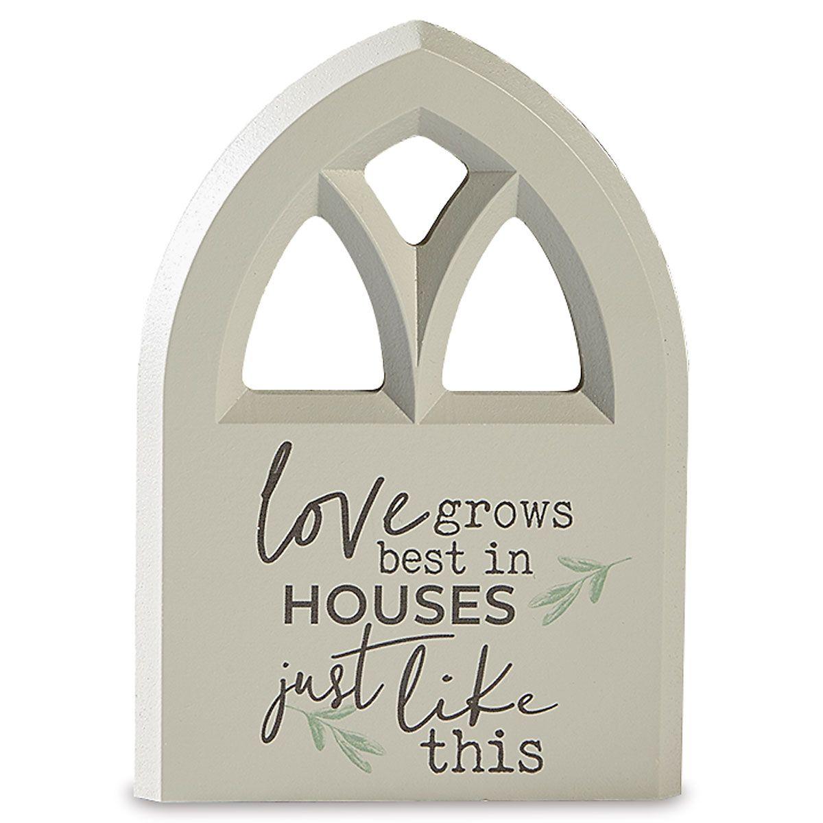 Inspirational Plaque Love Grows