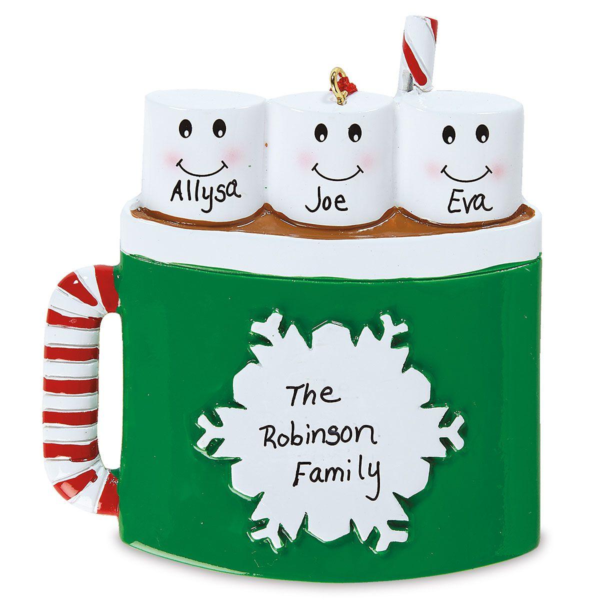 Marshmallow Mug Personalized Ornament