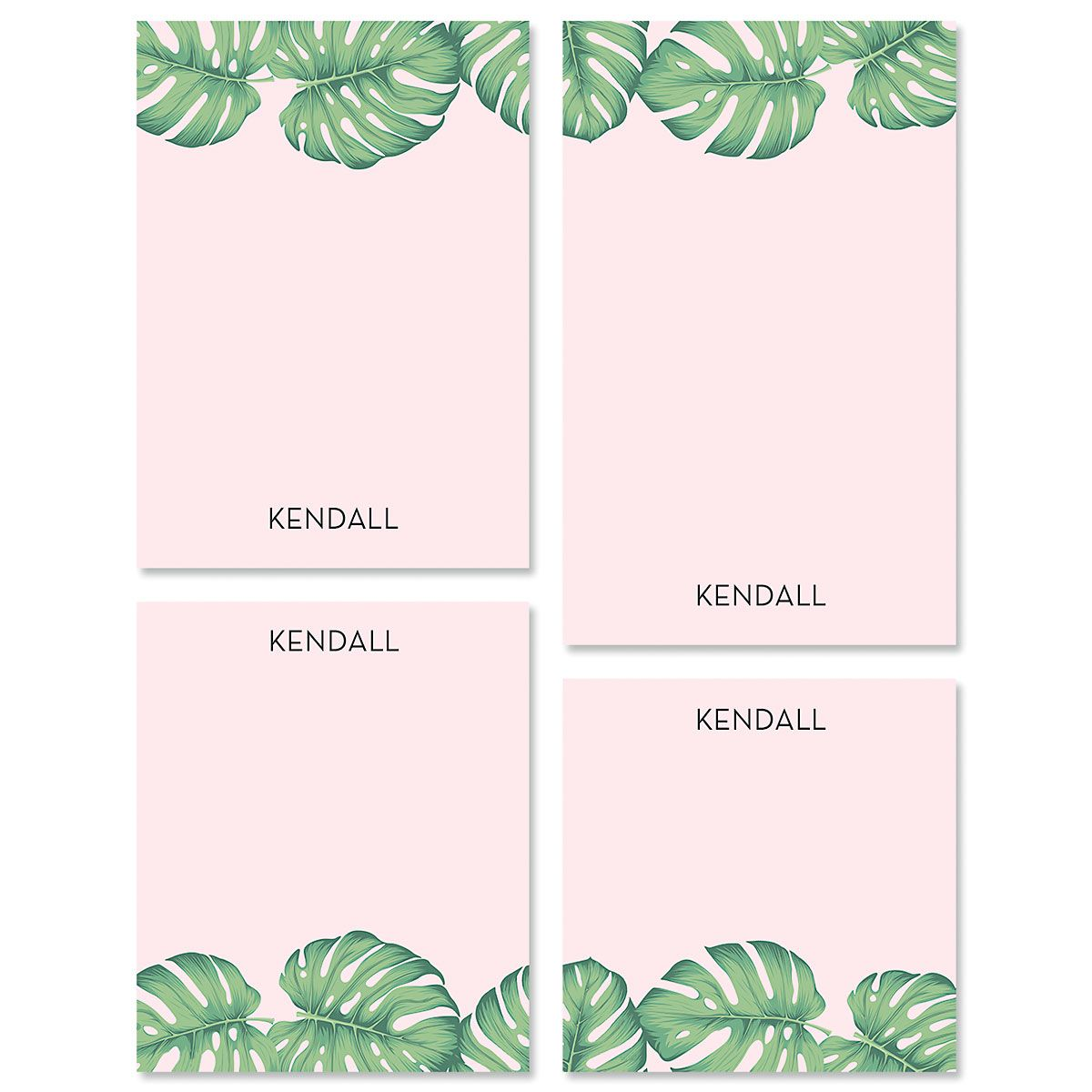 Pink Palms Custom Memo Pad Sets