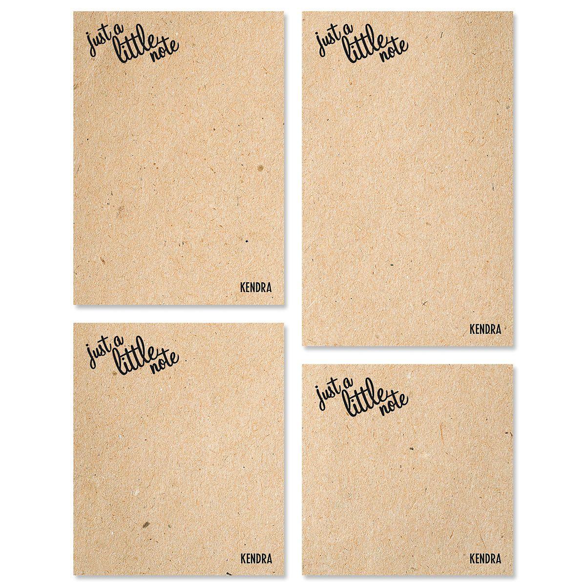 Just A Note Custom Memo Pad Sets