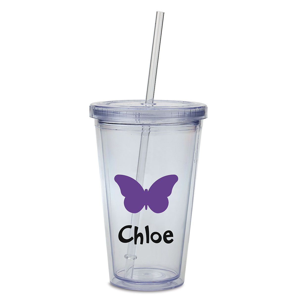 Custom Butterfly Acrylic Beverage Cup