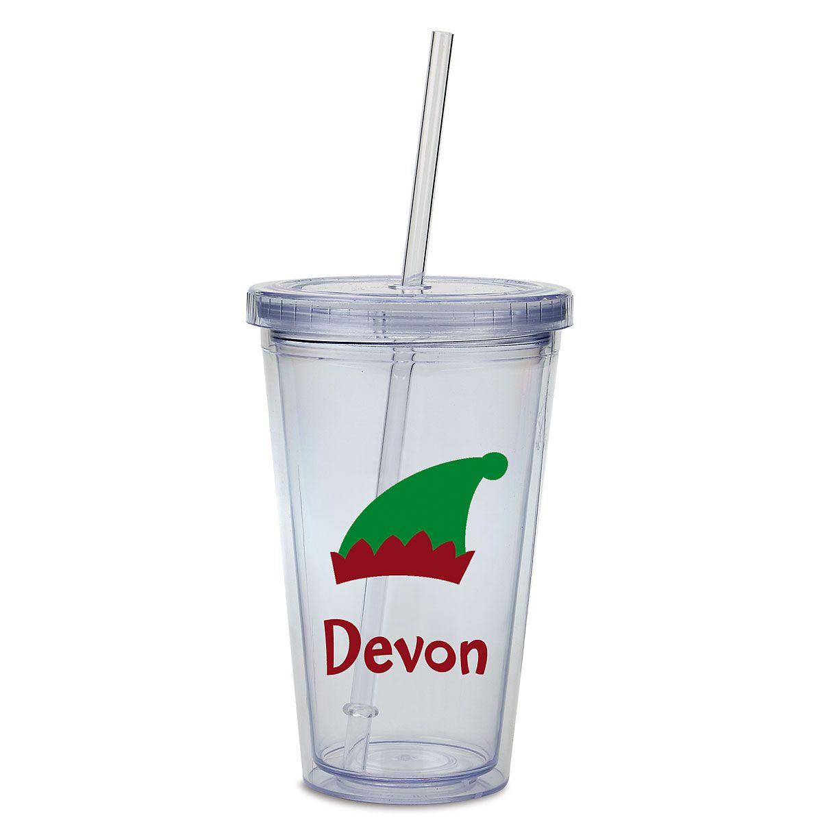 Custom Elf Acrylic Beverage Cup