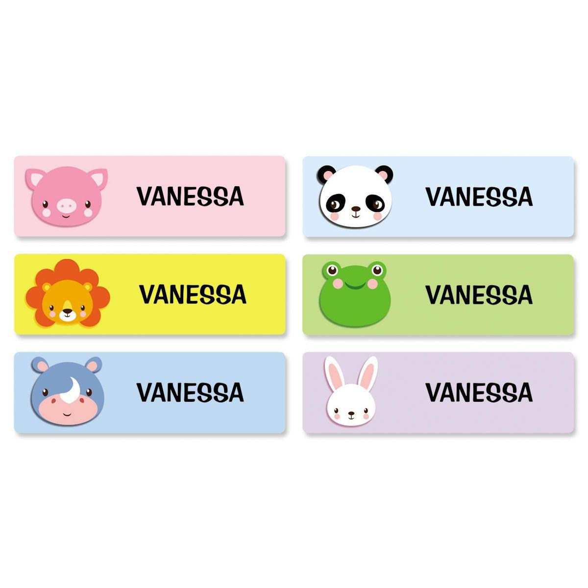 Custom Wild Animal Name Stickers