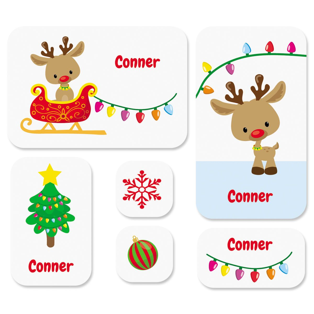 Custom Christmas Rudolph Stickers