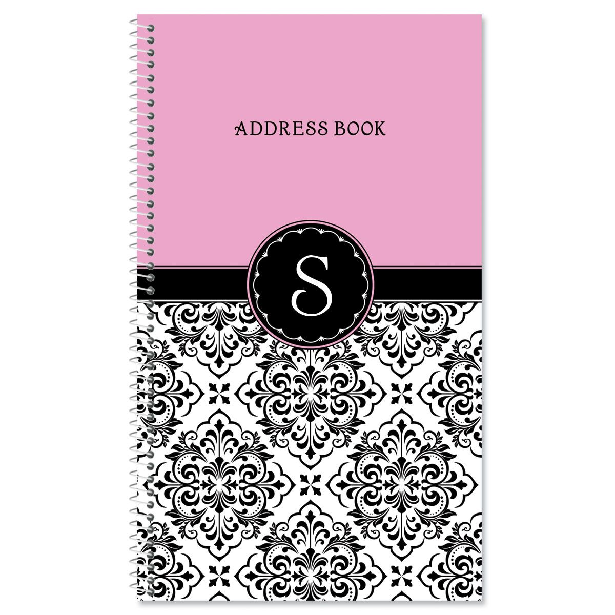 Vintage Damask Lifetime Address Book