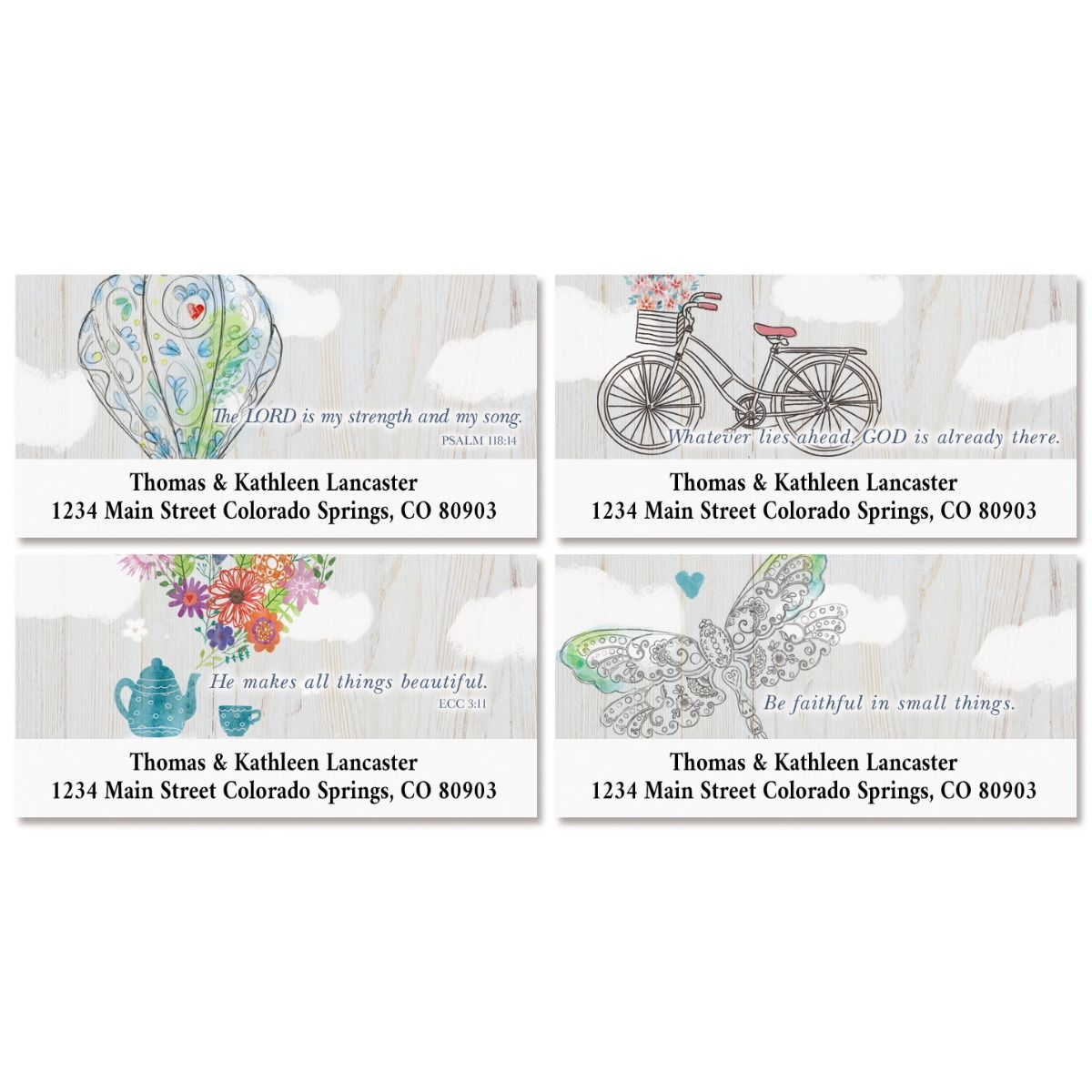 Fly Away Deluxe Return Address Labels