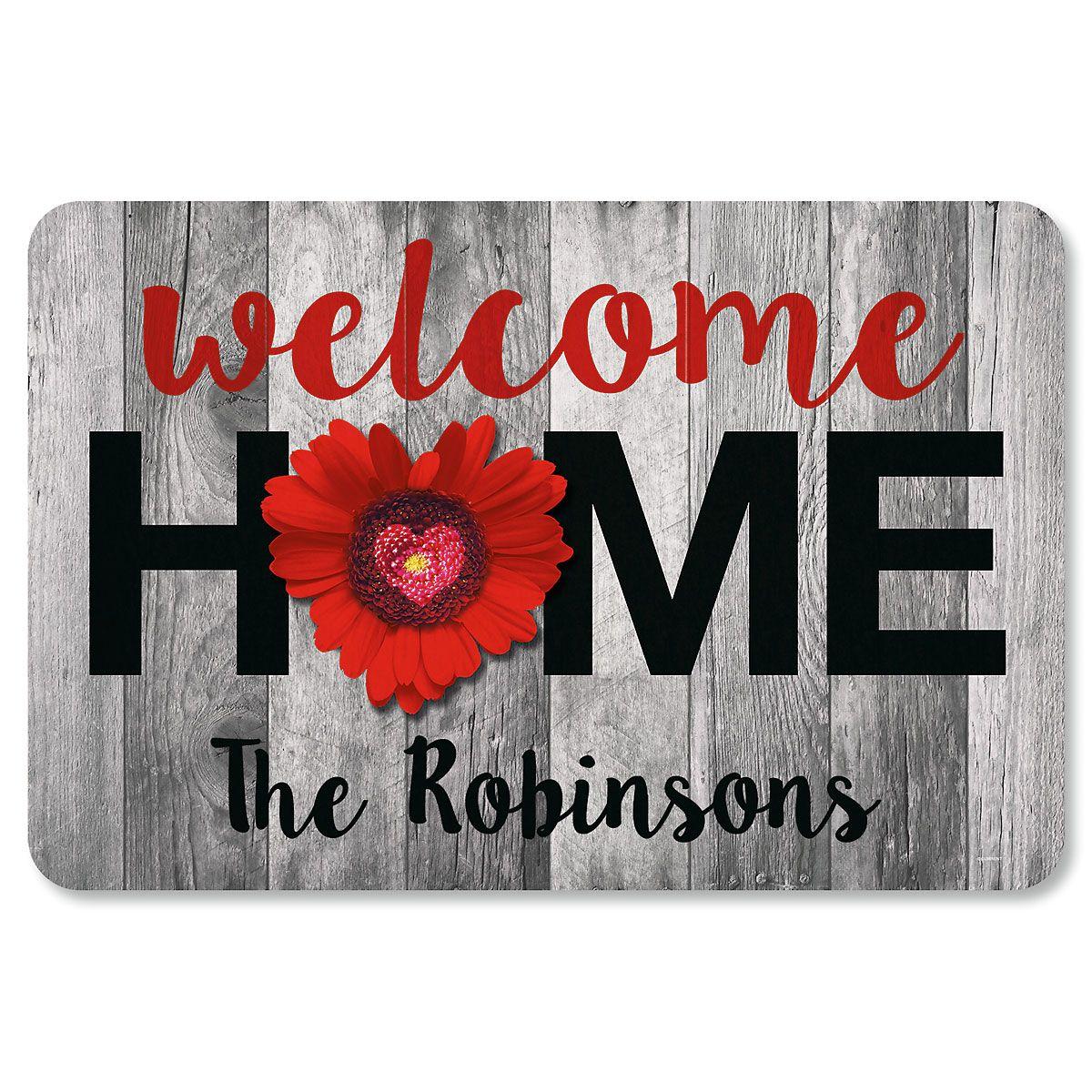 Custom Home & Heart Doormat
