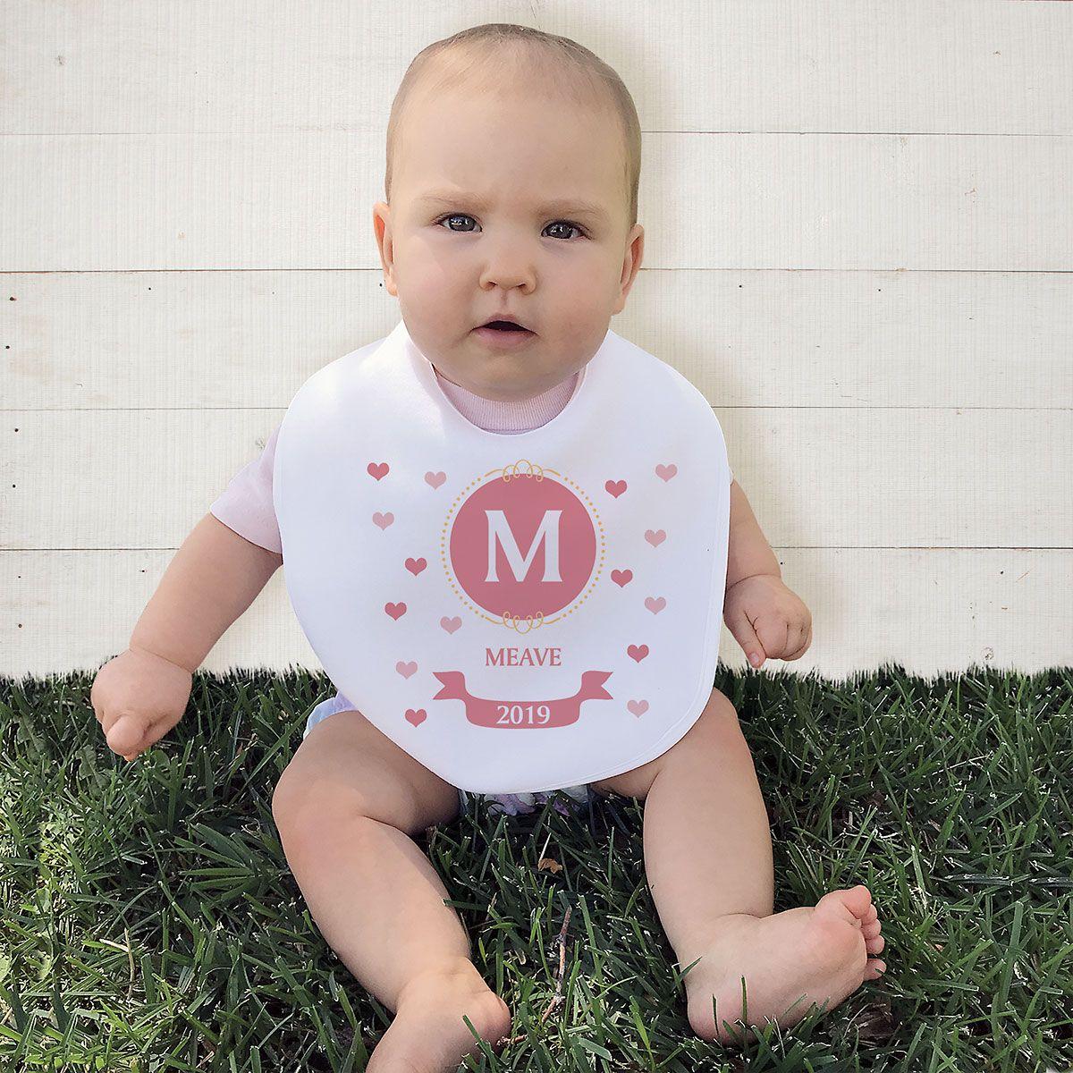 Personalized Initial Baby Bib