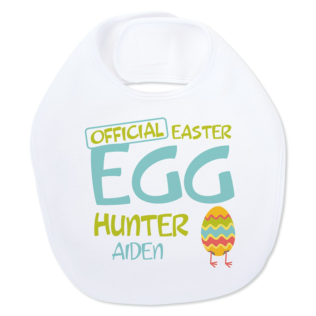 Personalized Baby's Easter Egg Hunter Bib