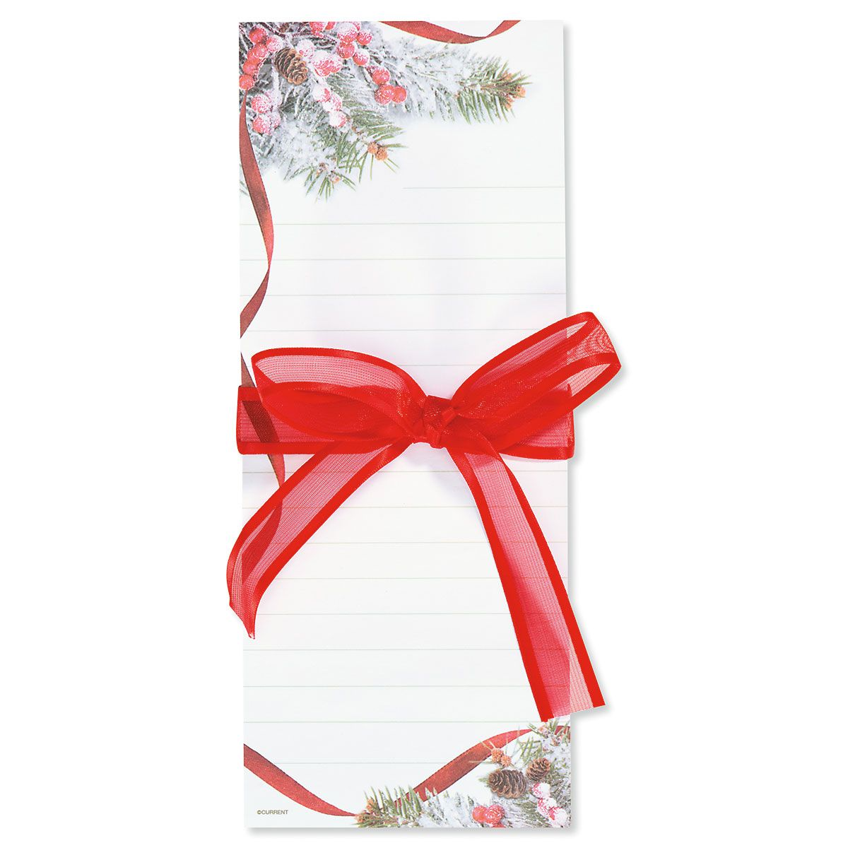 Snowy Pine List Pads with Ribbon - Buy 1 Get 1 Free
