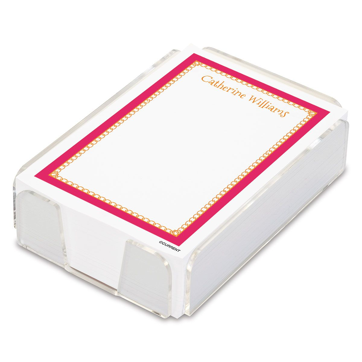 Bright Border Custom Notes Sheets in a Tray