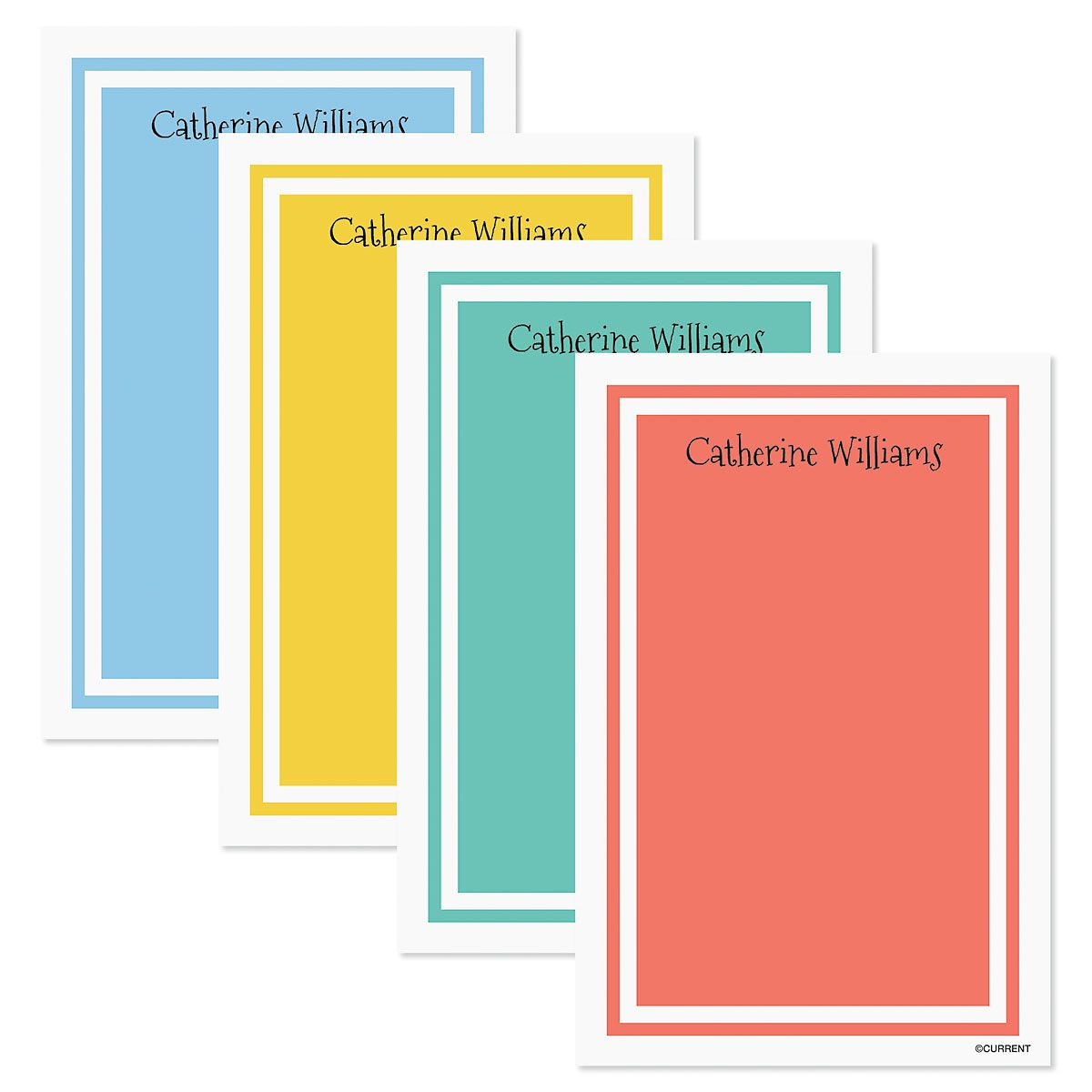 Color Trend Custom Notes in a Tray (4 rotating colors)