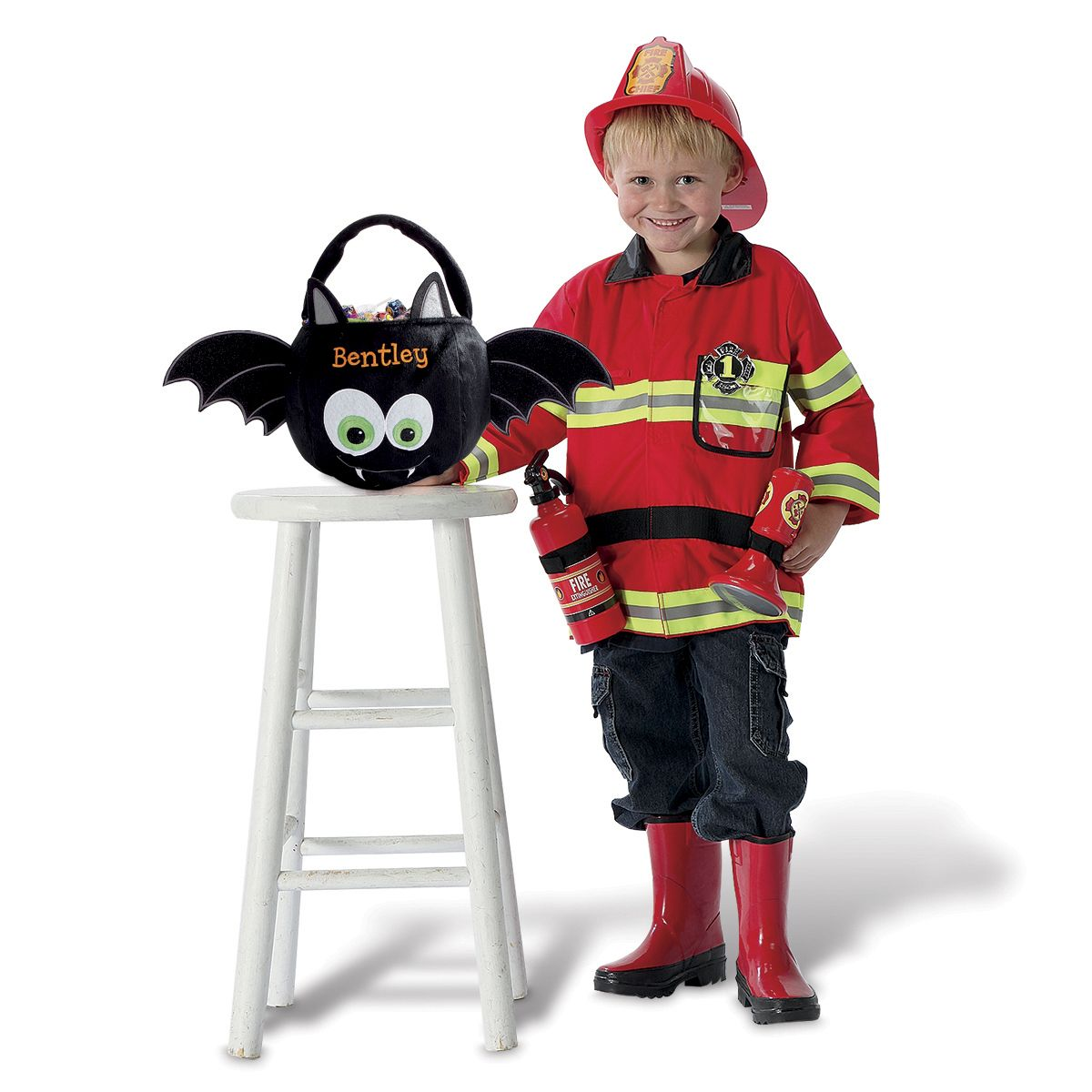 Custom Halloween Bat Treat Basket