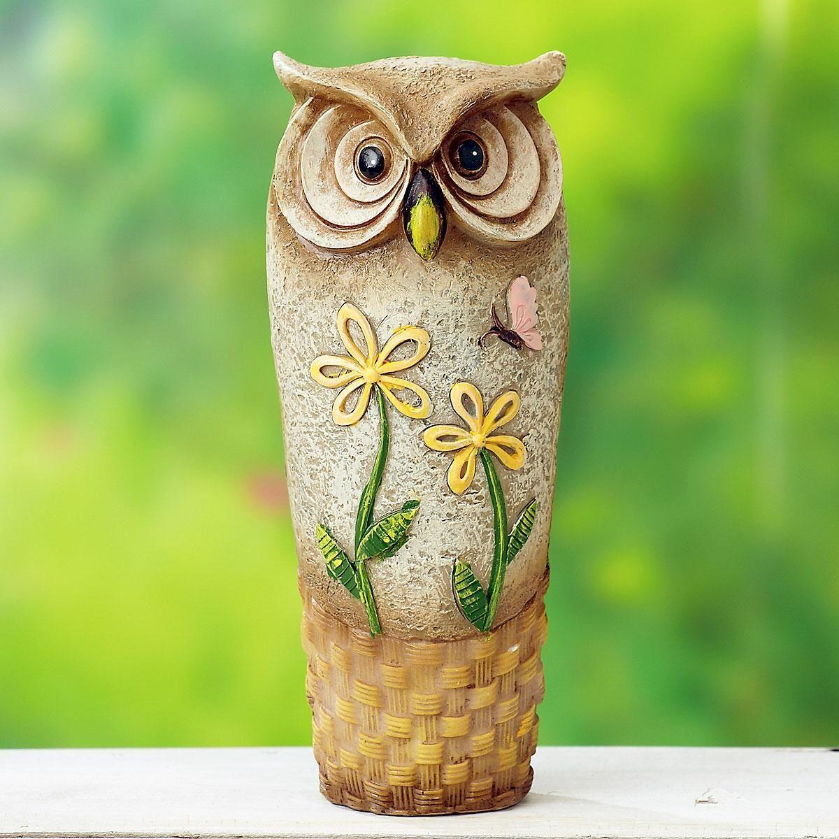 Tall Resin Owl