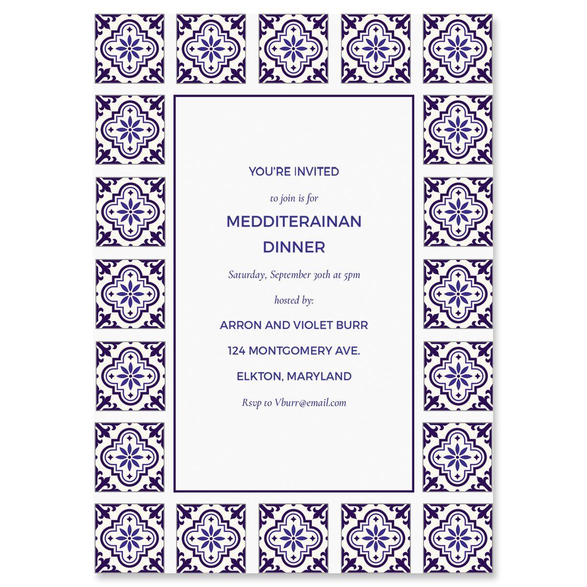 Custom Styled Mediterranean Invitations
