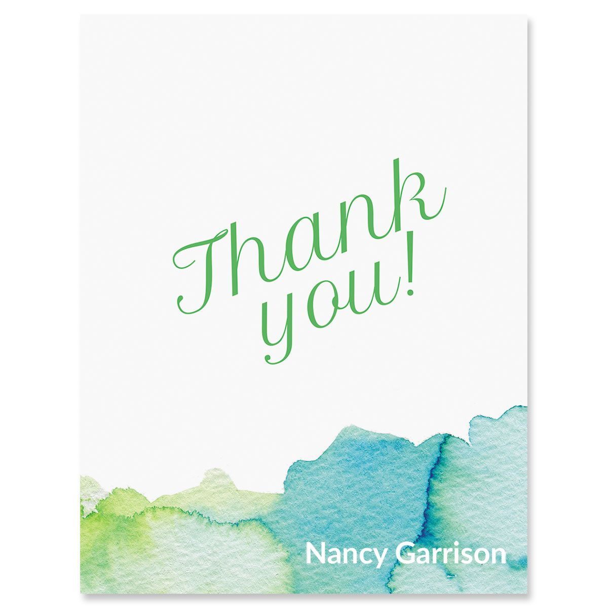 Custom Watercolor Thank You Cards