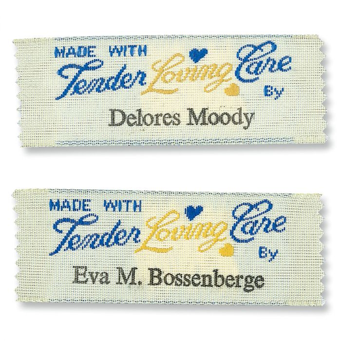 Made with Tender Loving Care By... Personalized Sewing Labels