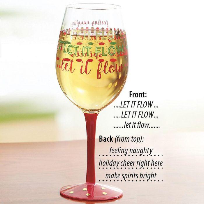 Let it Flow Wineglass