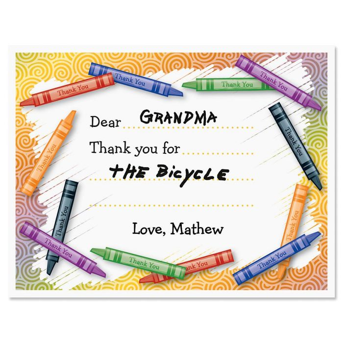 Kids Personalized Thank You Cards