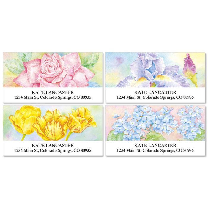 Floral Fancy  Deluxe Return Address Labels  (4 Designs)
