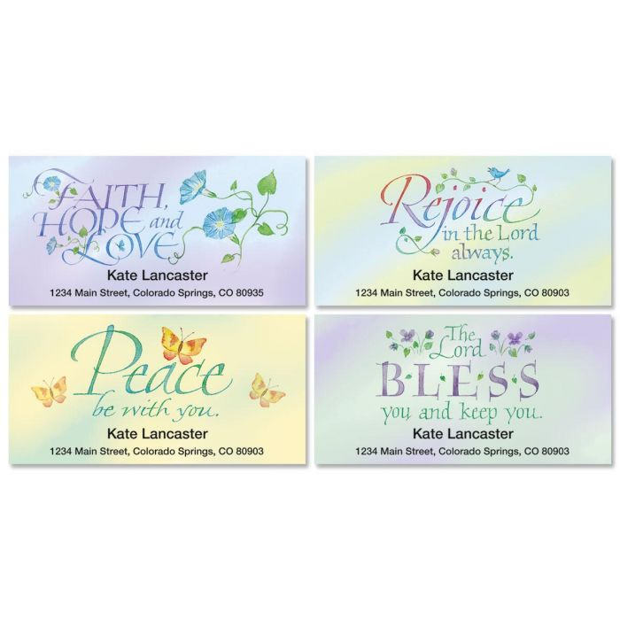 Expressions of Faith® Deluxe Return Address Labels  (4 Designs)