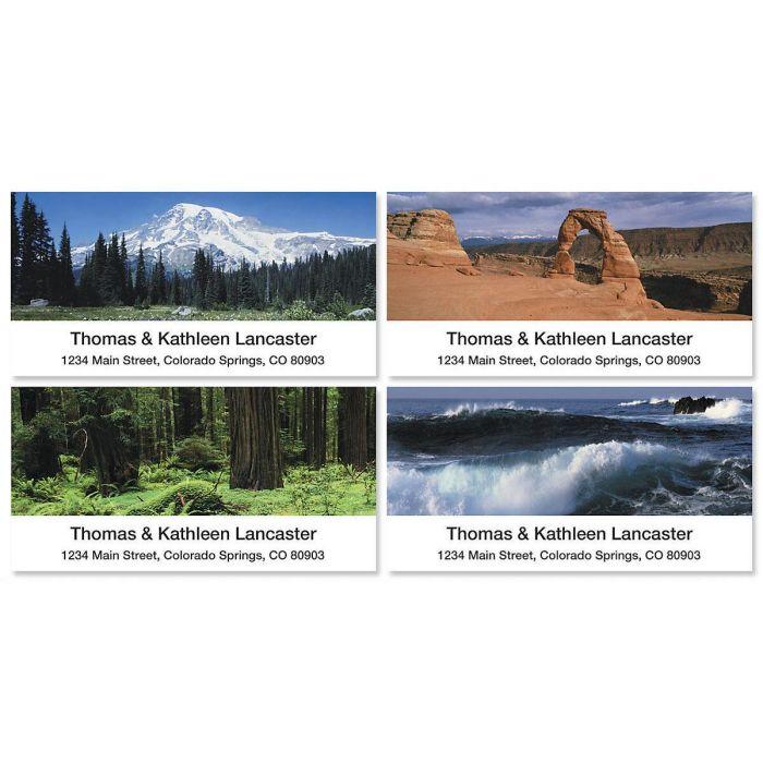 Nature's Splendor Deluxe Return Address Labels  (4 Designs)