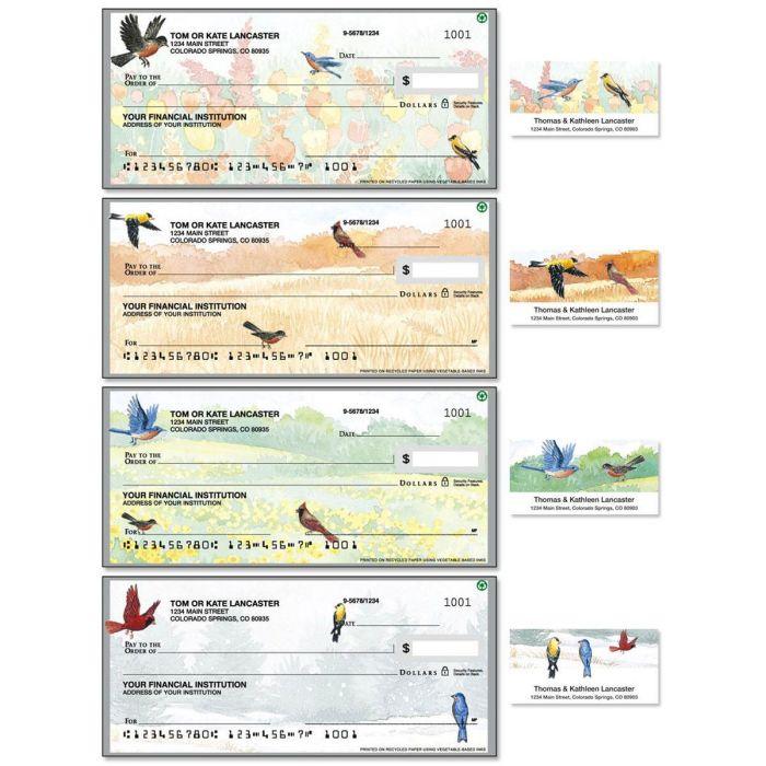 Wildbird Single Checks with Matching Address Labels