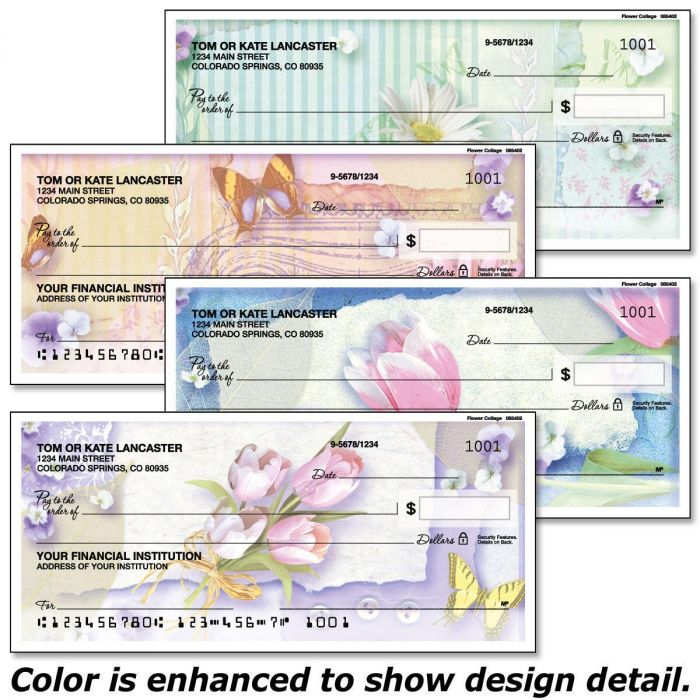 Floral Collage Personal Checks