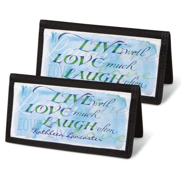 Live, Love, Laugh Personal Checkbook Covers