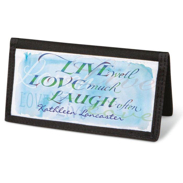 Live, Love, Laugh  Checkbook Cover - Personalized