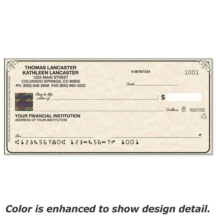 Securiguard Parchment Hologram Premium Personal Checks