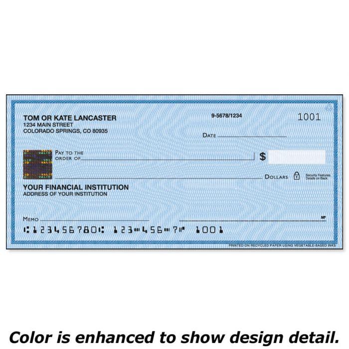 Securiguard Security Blue Hologram Premium Duplicate Checks