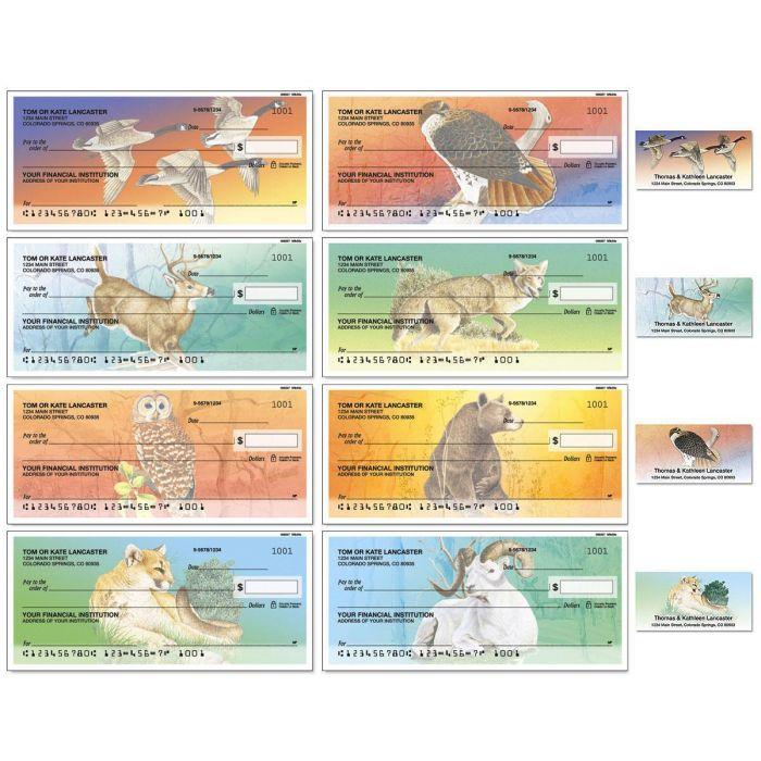 Wildlife Single Checks with Matching Address Labels