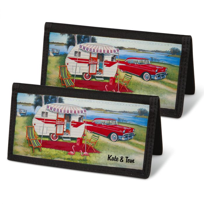 Vintage Trailer Personal Checkbook Covers
