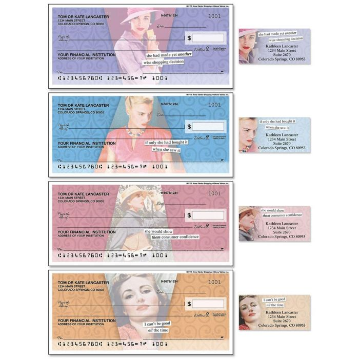 Anne Taintor Duplicate Checks with Matching Address Labels