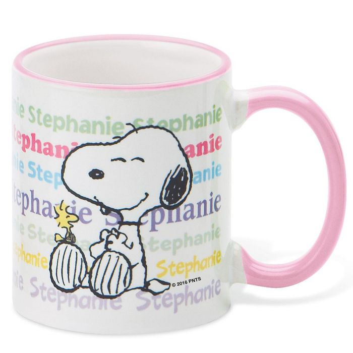 PEANUTS® Personalized Pastel Novelty Mug