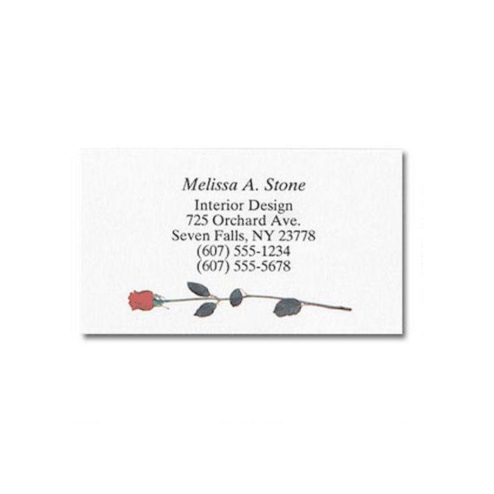 Single Rose Business Cards